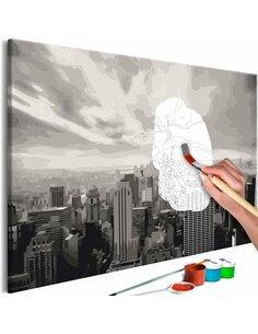 Tableau à peindre soi même GREY NEW YORK - par Artgeist