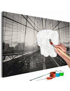Tableau à peindre soi même NEW YORK BRIDGE - par Artgeist