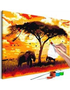 Tableau à peindre soi même AFRICA AT SUNSET - par Artgeist