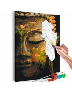 Tableau à peindre soi même BUDDHA IN THE SHADE - par Artgeist