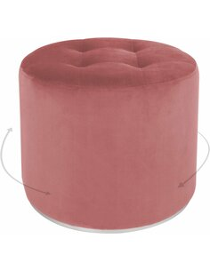 Pouf OTTOMANE PRINCE 110 Rosé - par Arte Espina