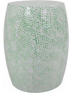 Pouf en métal COLOMBO 1510 Vert menthe - par Arte Espina