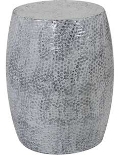 Pouf en métal COLOMBO 1810 Gris foncé - par Arte Espina