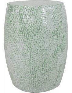 Pouf en métal COLOMBO 1910 Vert menthe - par Arte Espina