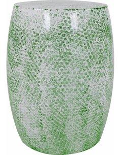 Pouf en métal COLOMBO 210 Vert - par Arte Espina