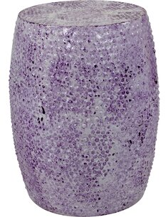 Pouf en métal COLOMBO 2210 Violet - par Arte Espina