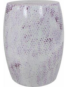 Pouf en métal COLOMBO 2410 Violet - par Arte Espina