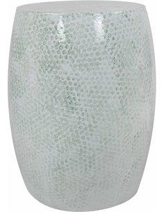 Pouf en métal COLOMBO 2510 Vert menthe - par Arte Espina