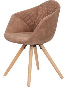 x2 chaises CHADWICK 110 Marron - par Arte Espina