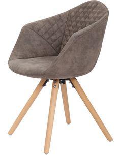x2 chaises CHADWICK 110 Gris Brun - par Arte Espina