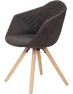 x2 chaises CHADWICK 110 Noir Brun - par Arte Espina