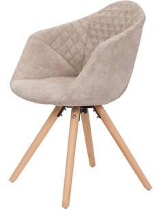x2 chaises CHADWICK 110 Blanc Crème - par Arte Espina