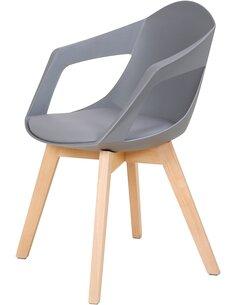 x2 chaises CHANDRA 110 Gris - par Arte Espina