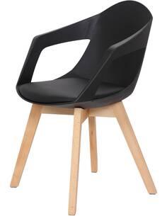 x2 chaises CHANDRA 110 Noir - par Arte Espina