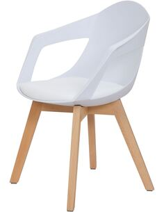 x2 chaises CHANDRA 110 Blanc - par Arte Espina