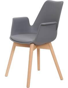 x2 chaises CHAPLIN 110 Gris - par Arte Espina