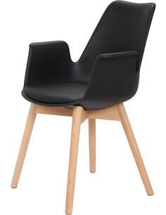 x2 chaises CHAPLIN 110 Noir - par Arte Espina