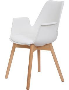 x2 chaises CHAPLIN 110 Blanc - par Arte Espina