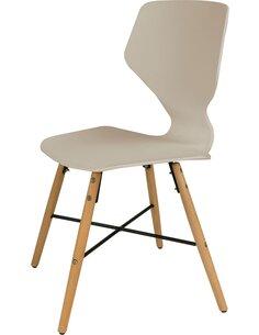 x4 chaises CHARLIE 110 Beige - par Arte Espina