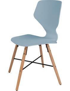 x4 chaises CHARLIE 110 Gris Bleu - par Arte Espina