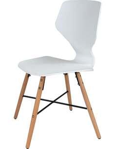 x4 chaises CHARLIE 110 Blanc - par Arte Espina