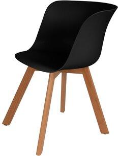 x4 chaises CHRIS 110 Noir - par Arte Espina
