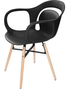 x4 chaises CHUCK 110 Noir - par Arte Espina