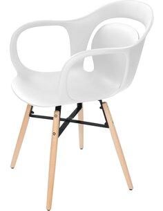x4 chaises CHUCK 110 Blanc - par Arte Espina