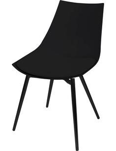 x4 chaises DAKOTA 110 Noir Noir - par Arte Espina
