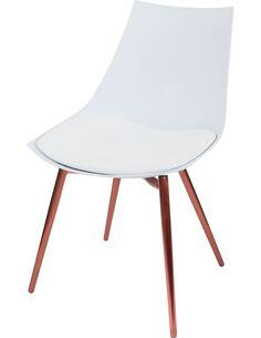 x4 chaises DAKOTA 210 Blanc Cuivre - par Arte Espina