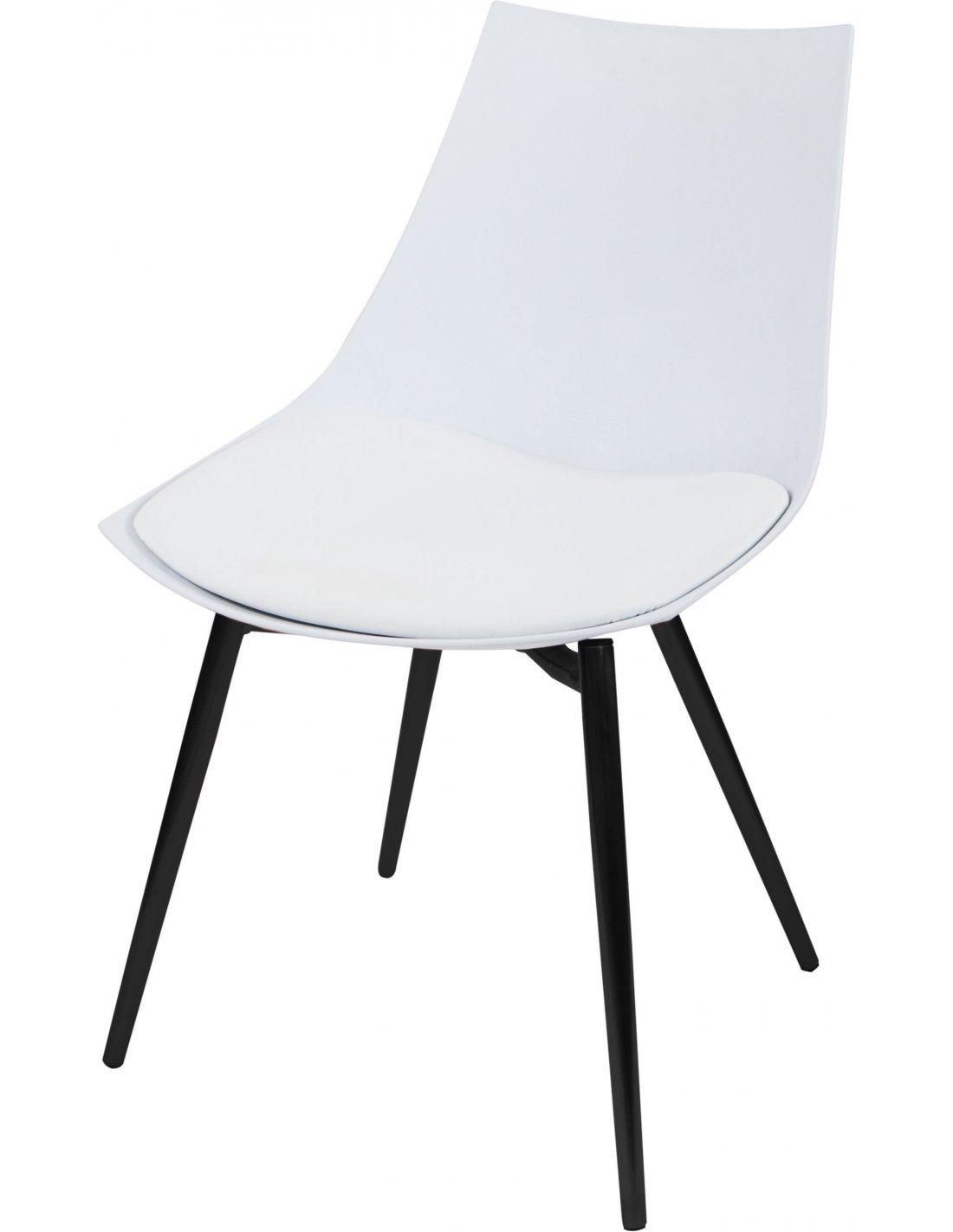 X4 Chaises DAKOTA 210 Blanc Noir
