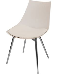 x4 chaises DAKOTA 410 Beige Chrome - par Arte Espina