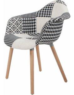 x2 chaises DAVE 110 Noir Blanc - par Arte Espina