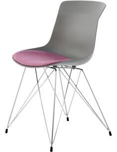 x2 chaises EMILY 110 Gris Violet - par Arte Espina