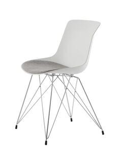 x2 chaises EMILY 110 Blanc Gris - par Arte Espina
