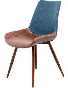 x2 chaises EVERVER 110 DARK Bleu Marron - par Arte Espina
