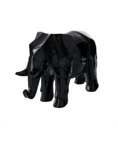 Sculpture ELEPHANT 120 Noir - par Arte Espina