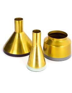 3x Vases déco CULTURE 140 Prune Gris - par Arte Espina