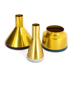 3x Vases déco CULTURE 180 Or Prune Gris Clair Essence - par Arte Espina