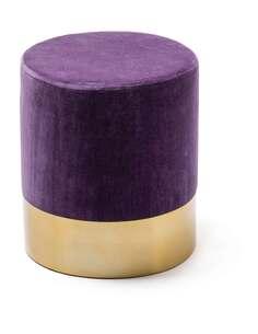 Pouf PEPINO110 Violet Or - par Arte Espina