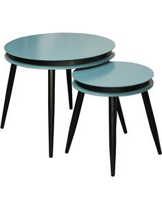 2x tables gigognes SIDE SURI 110 Essence Noir - par Arte Espina