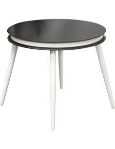 2x tables gigognes SIDE SURI 110 Noir Blanc - par Arte Espina