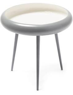 Table d'appoint 210 CHARBON Gris Blanc - par Arte Espina