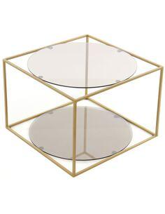 Table d'appoint 110 CODY Gris Or - par Arte Espina