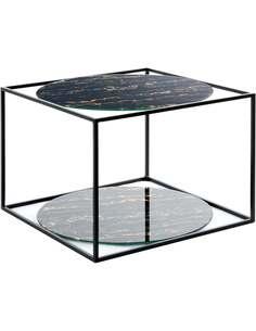 Table d'appoint 110 CODY Noir Marbre Noir - par Arte Espina