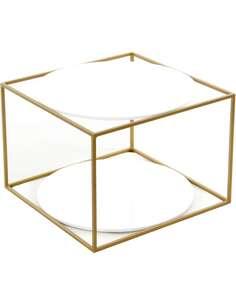 Table CODY 110 Blanc Or - par Arte Espina