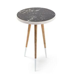 Table d'appoint 160 MARY Blanc Naturel - par Arte Espina