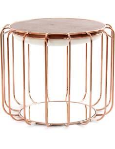 Pouf reversible table d'appoint 110 CONFORTABLE 110 Beige Rosé - par Arte Espina