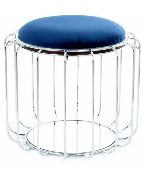 Pouf reversible Table d\'appoint 110 CONFORTABLE Foncé | Kayoom | Bleu