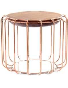 Pouf reversible table d'appoint 110 CONFORTABLE Violet Pouf Rosé - par Arte Espina